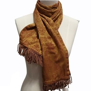 Women's Red and brown Floral Scarf